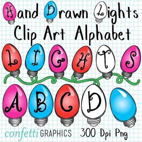 christmas light letters lights clip alphabet letters