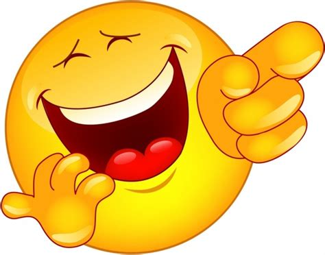 Laughing and pointing emoticon Free vector in Adobe ...