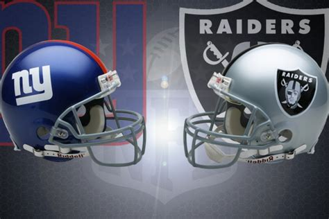 nfl week    york giants  oakland raiders