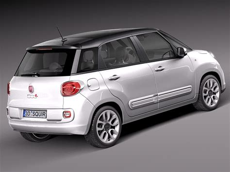 Fiat 500l Models by Fiat 500l Usa Version 2013 3d Model Max Obj 3ds Fbx