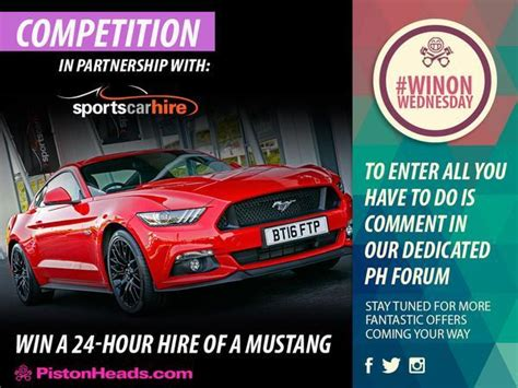 sports car rental philippines win a mustang v8 for a day pistonheads