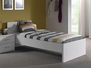 Lit Une Place : lit enfant blanc moderne gregory ~ Teatrodelosmanantiales.com Idées de Décoration