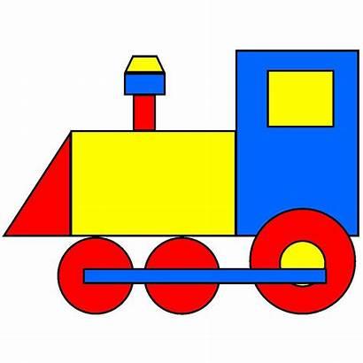 Clip Coloring Shapes Train Basic Clipartpanda Shape