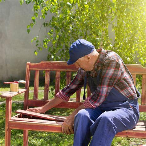 outdoor modern industrial style ipe wood bench  wooden