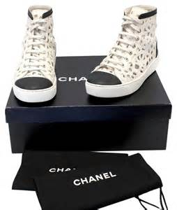 Chanel Floral Tennis Shoes Sneakers