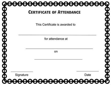 attendance certificate templates   word