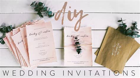 Diy My Wedding Invitations With Me Youtube