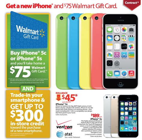 iphone deals walmart black friday 2013 ad includes iphone 5s