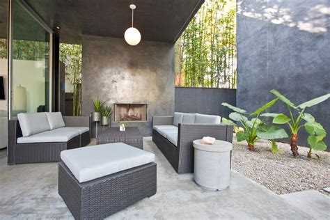 los angeles concrete patio designs contemporary with