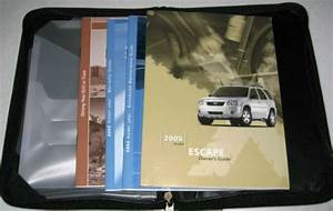 2005 Ford Escape Owners Manual Set Guide 05 W  Case Xls Xlt