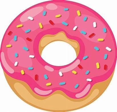Donut Donuts Clipart Clip Transparent Bite Cliparts