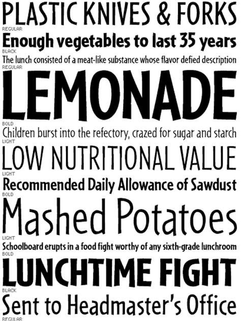 font bureau fonts font bureau fonts cafeteria