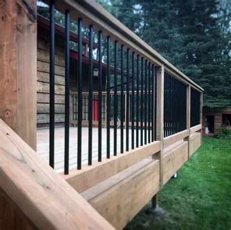 steel deck handrails top 50 best metal deck railing ideas backyard designs