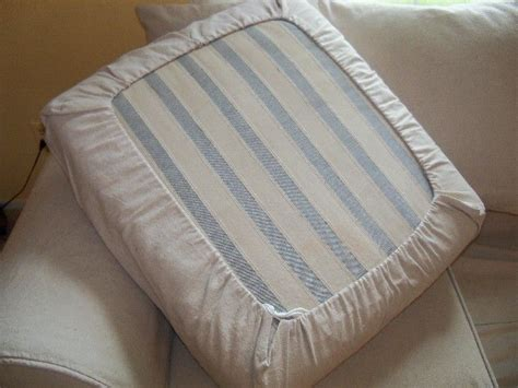 how to make a sofa cover without sewing easy diy drawstring seat cushion cover kovi