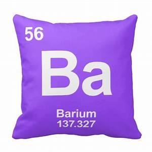 Ba Barium Periodic Table Element Pillow | Zazzle