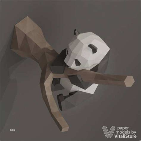 Love is war) built papercraft. Papercraft Vorlagen Kostenlos Genial Diy Papercraft Panda Paper Craft Panda Diy Gift Kit ...