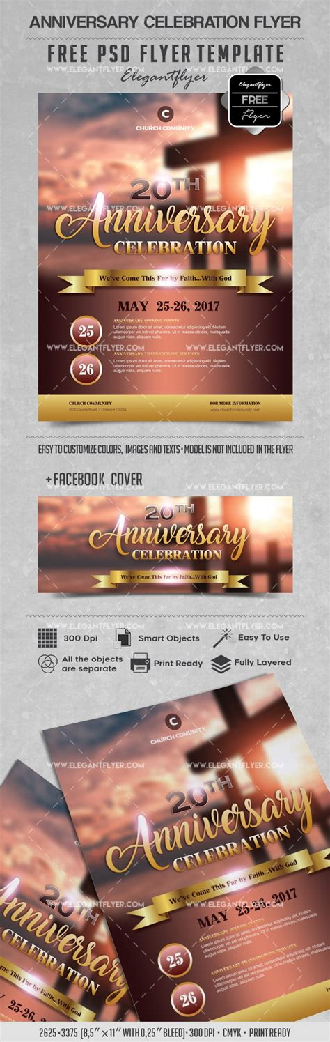 Anniversary Celebration Free PSD Flyers Template by