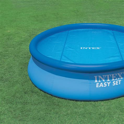 Intex 6 Foot Pool Cover by Intex 15 Foot Round Easy Set Vinyl Solar Cover For
