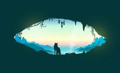Nature Wolf Minimalism Outdoors Desktop Wallpapers Backgrounds