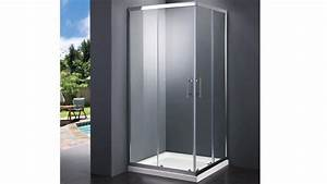 Paroi de douche verre a ouverture double elimena for Porte douche 90x90