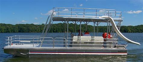 Deck Pontoon With Slide by Deck Pontoon 5 Deck Pontoon Boats With