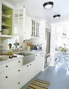 Green Kitchen White Cabinets by I Think I M In