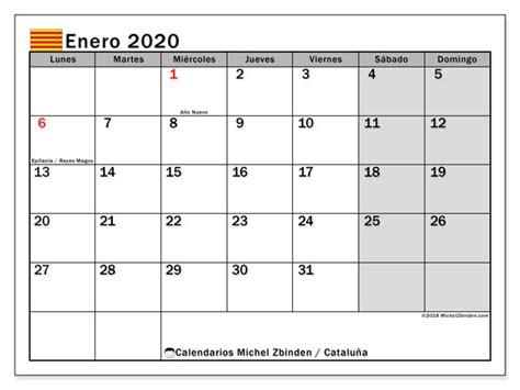 calendario enero cataluna espana michel zbinden es