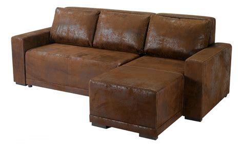 canapé d angle en cuir marron canape cuir vieilli marron