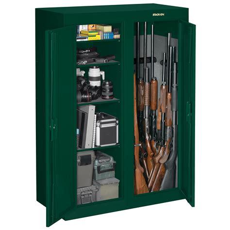 stack on gun cabinet shelves 16 or 31 gun double door security cabinet