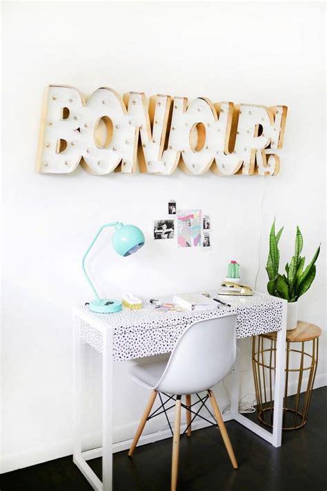 faire un bureau soi meme déco chambre ado fille à faire soi même 25 idées cool