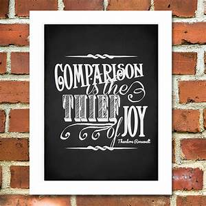 Comparison is the Thief of Joy Printable Chalkboard Poster