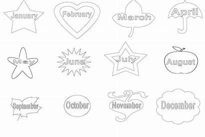Months Coloring Printable Pages Month September Joy