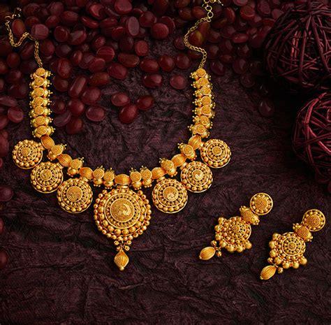 short necklace  gold jewellery bridal jewellery