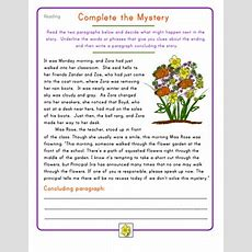 Fourth Grade Reading Practice Complete The Mystery