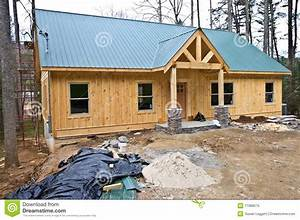 Small House Under Construction Stock Image