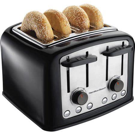 toasters at walmart hamilton smarttoast 4 slice toaster model 24444 walmart