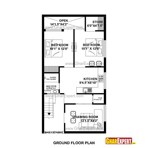 25by 50 plot size lay out plan house plan for 23 by 45 plot plot size 115square yards gharexpert