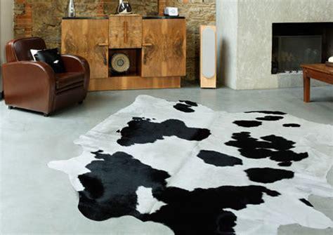 tapis en peau de vache naturelle et unie