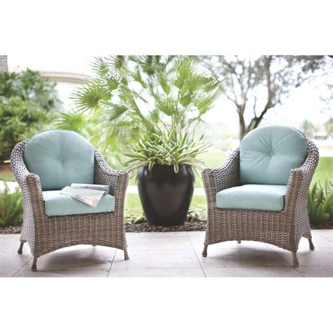 Martha Stewart Patio Cushions by Martha Stewart Living Lake Adela Patio Weathered Grey Chat