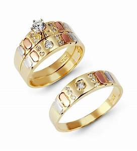 His and hers wedding ring sets yellow gold his and hers for Wedding rings his and hers sets