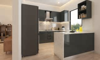 Buy Nouveau U Shaped Modular Kitchen online in India