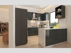 Buy Nouveau UShaped Modular Kitchen online in India