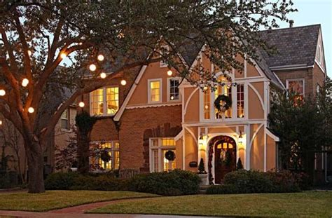 Beautiful Decorated Homes by A 1920s Tudor Decorated For Christmas Beautiful House