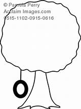 Coloring Tire Swing Tree Clipart Clip Shade Photography Pages Illustration sketch template