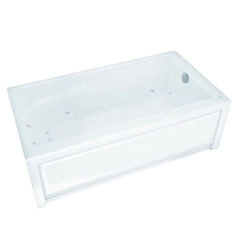 maax bathtubs home depot maax new town 5 ft whirlpool tub in white 105454 091 001