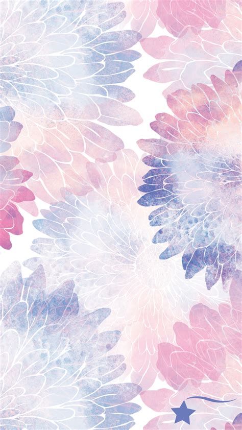 Your watercolor flowers stock images are ready. Destira Phone Wallpaper to match our Water Lilies Split Back Leotard (With images) | Flower ...