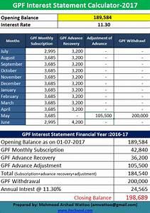 Gpf Interest Statement Calculator Example