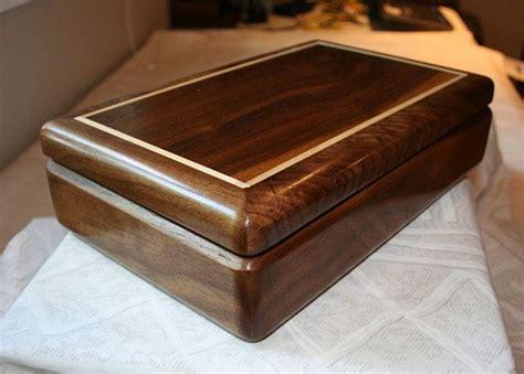 small black walnut wood jewelry box keepsake box mens