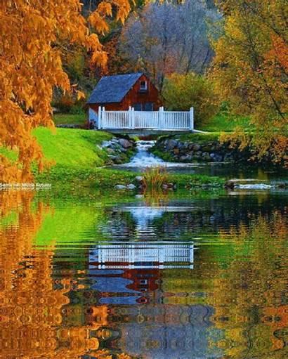 Colorful Nature Cottage Pretty Places Landscapes