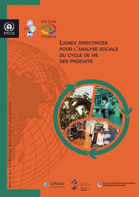 sfr si鑒e social lignes directrices pour l 39 analyse sociale du cycle de vie des produits